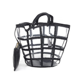 Dolce & Gabbana Transparent Black Bucket Tote - Black - 12 x 9 x 6