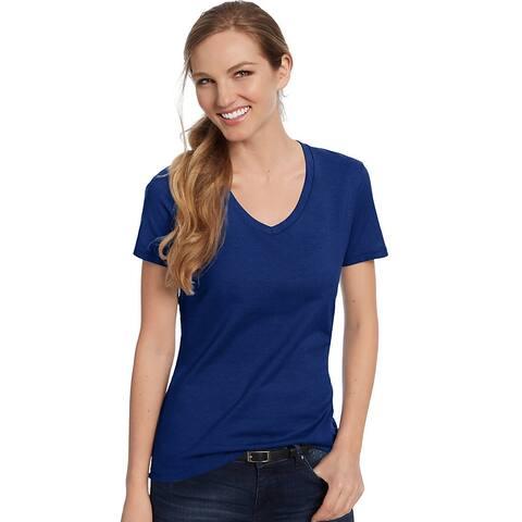 Hanes Women's Nano-T® V-Neck T-Shirt - Color - Deep Royal - Size - 3XL