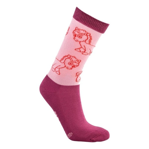 Old West Socks Girls Over The Calf Reinforced Cushioned Pink