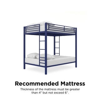 Link to Avenue Greene Cassi Full over Full Metal Bunk Bed Similar Items in Kids' & Toddler Beds