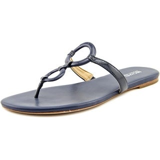 Michael Michael Kors Claudia Flat Sandal Open Toe Patent Leather Thong Sandal