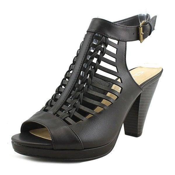 CL By Laundry Waves Women Peep-Toe Synthetic Black Slingback Heel