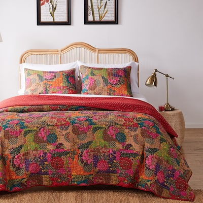 Greenland Home Jewel Oversized Reversible 3-piece Quilt Set