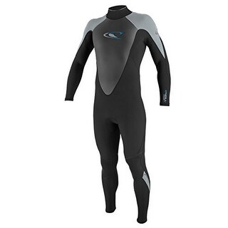 Oneill Mens 3/2 Hammer Full Wetsuit, Black/Dusty Blue, Large