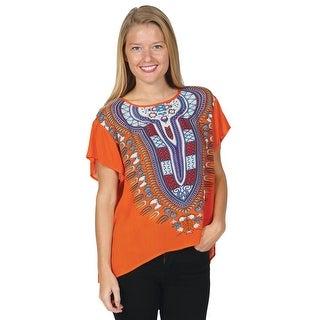 Women's Fashion T-Shirt - Dashiki Print Tunic Style Top (5 options available)