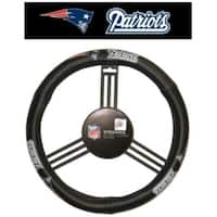 New England Patriots Steering Wheel Cover - Leather