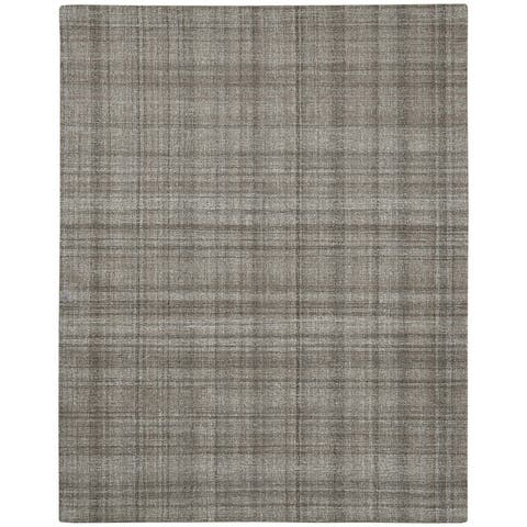 Copper Grove Clare Plaid Hand-Tufted Wool Area Rug
