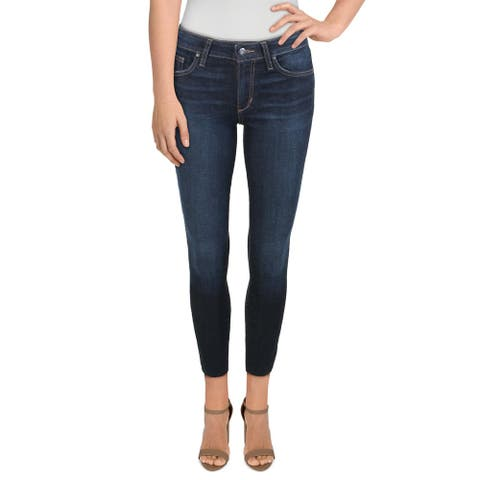 Joe's Jeans Womens Iron Skinny Crop Jeans Mid-Rise Raw Hem - Collette