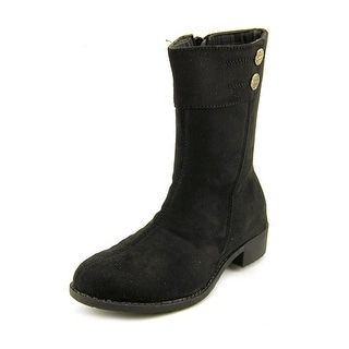 Propet Scotia Women  Round Toe Canvas Black Mid Calf Boot