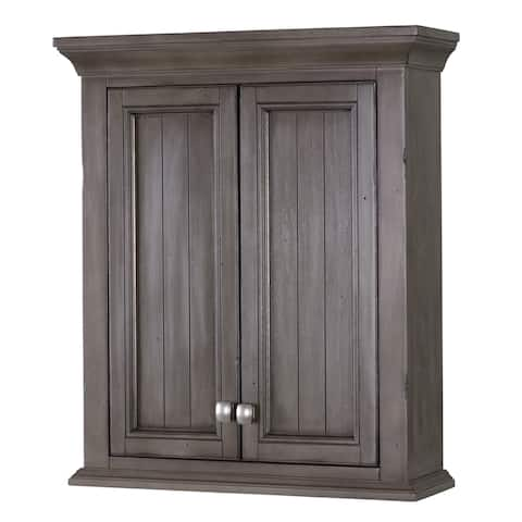 "Miseno MWCTATI Tatianna 24"" x 28"" Poplar Wood Wall Mounted Bathroom Cabinet - Distressed Grey"