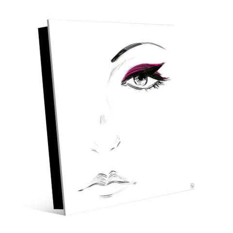 Kathy Ireland Magenta Eyeshadow Abstract on Acrylic Wall Art Print