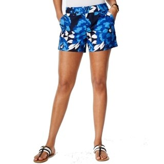 Tommy Hilfiger NEW Navy Blue Womens Size 18 Floral Print Chino Shorts