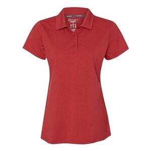 Champion Vapor Women's Performance Heather Sport Shirt - Scarlet Heather - XL