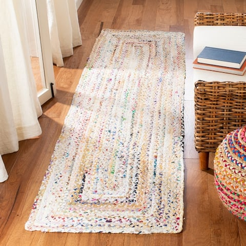 SAFAVIEH Georgine Handmade Braided Bohemian Cotton Rug