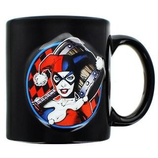 DC Comics Embosse Harley Quinn 20oz Mug - Multi