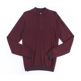 Tommy Bahama NEW Claret Red Mens Large L 1/2 Zip Reversible Sweater