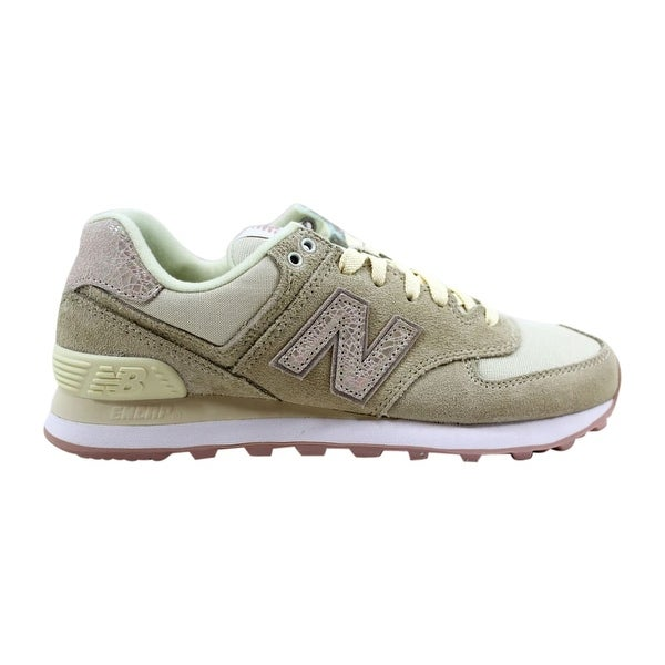 8c7612afdebbf New Balance Women's 574 Angora/Faded Rose-Shattered Pearl WL574CIB