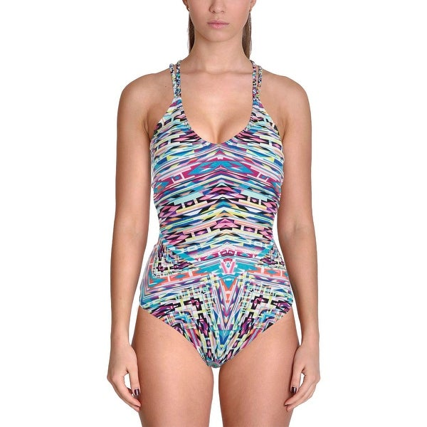 1f3a587f7231e Shop Kenneth Cole Reaction Womens Hot To Trot Tribal Print Strappy One-Piece  Swimsuit - Free Shipping On Orders Over  45 - Overstock.com - 20684379