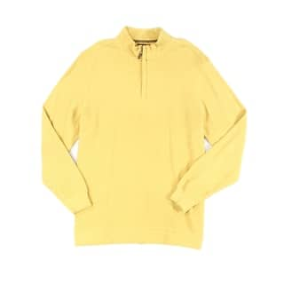 Tasso Elba NEW Yellow Honey Heather Mens Size XL 1/2 Zip Ribbed Sweater|https://ak1.ostkcdn.com/images/products/is/images/direct/f0d9afb2d7614bbebabb8dc4ce8e458a82a9f127/Tasso-Elba-NEW-Yellow-Honey-Heather-Mens-Size-XL-1-2-Zip-Ribbed-Sweater.jpg?impolicy=medium