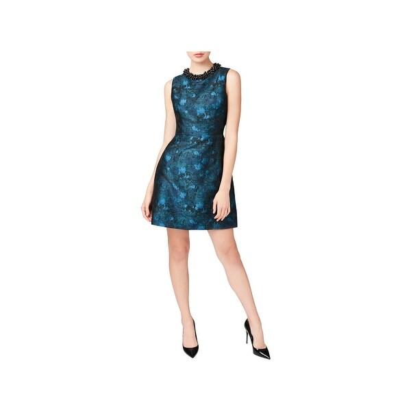 Betsey Johnson Womens Party Dress Beaded Sleeveless
