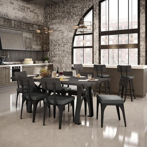 Amisco Sierra Table and Symmetry Chairs Dining Set