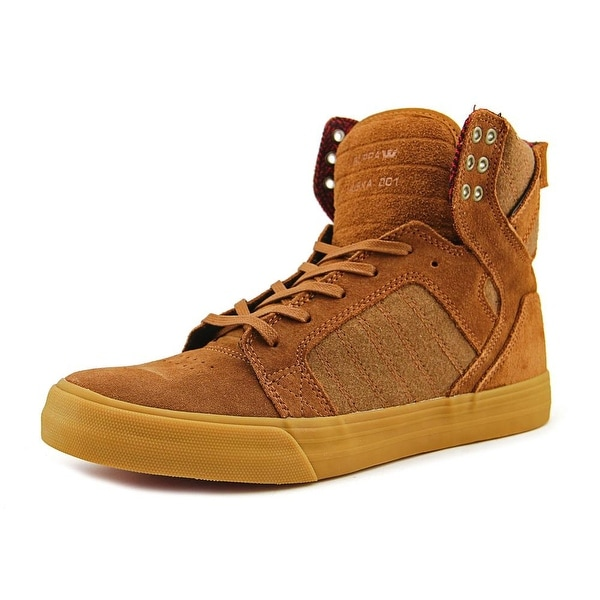 Supra Skytop Men Brown/Red-Gum Sneakers Shoes