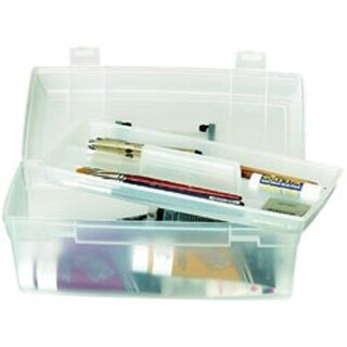 "13""X6""X5.625"" Translucent W/Black - Artbin Essentials Lift-Out Box W/Handle"