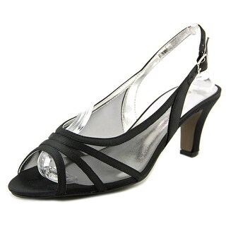 David Tate Pride Women N/S Peep-Toe Canvas Slingback Heel