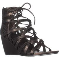 Kenneth Cole REACTION Cake Pop Wedge Sandals, Pewter