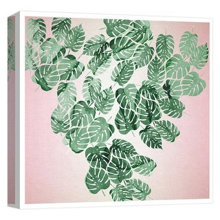 """PTM Images 9-124738  PTM Canvas Collection 12"""" x 12"""" - """"Tropical Leaves II"""" Giclee Tropical Art Print on Canvas"""