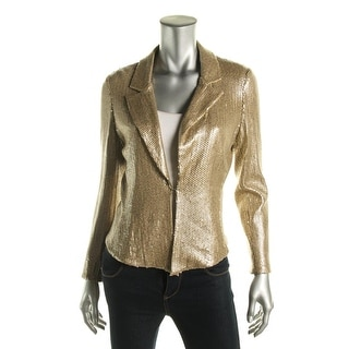 Rachel Rachel Roy Womens Sequined Hook/Eye Closure Casual Blazer - 8