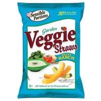 Sensible Portions Garden Veggie Straws - Zesty Ranch - Case of 12 - 5 oz.