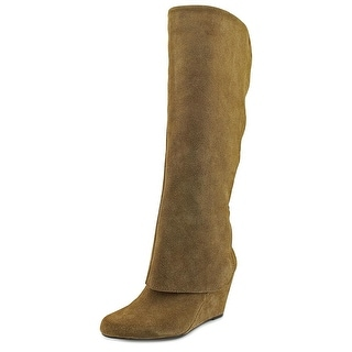 Jessica Simpson Rallie Round Toe Suede Mid Calf Boot