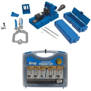 Kreg Jig K5 Master System with Pocket-Hole Screw Project Kit in 5 Sizes - Blue