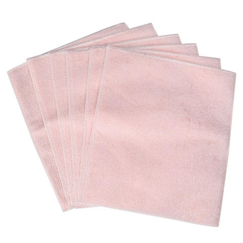 "Cleaning Cloth Towels 6pcs, 11.8"" x 10.2"" Highly Absorbent Pan Dish Cloths Pink - 11.8"" x 10.2"""