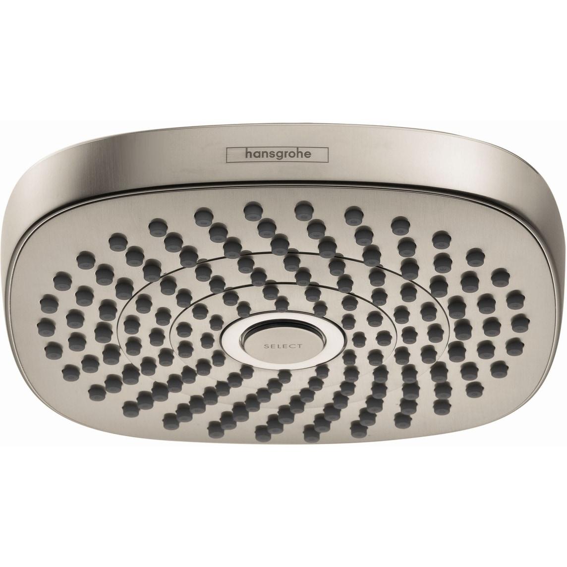 Hansgrohe 04387 Croma 1 8 Gpm Multi Function Rain Square Shower Head