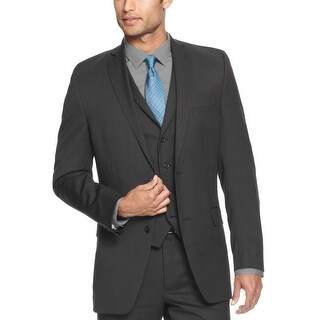 Alfani Slim Fit Charcoal Mini Cord Cotton Sportcoat 36 Regular 36R