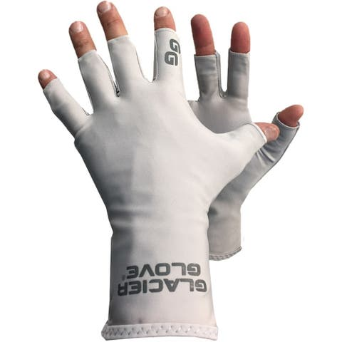 Glacier Glove Abaco Bay Fingerless Sun Gloves - Light Gray