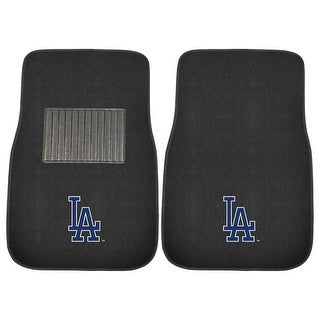 """MLB - Los Angeles Dodgers 2-Piece Embroidered Car Mats - 17""""x25.5"""""""