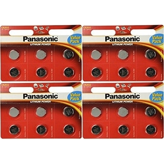 24 Panasonic CR2032 Batteries Lithium cr-2032 3V Coin Cell 4 Packs of 6 Batteries