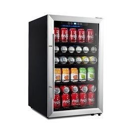 Kalamera Beverage Cooler 150 Can Refrigerator Stainless Steel Door & Touch Control KR-120BV