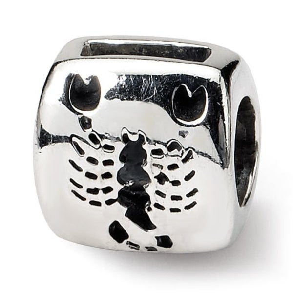 Sterling Silver Reflections Scorpio Zodiac Antiqued Bead (4mm Diameter Hole)