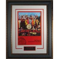 The Beatles unsigned Sgt Peppers Vintage Poster Premium Leather Framed 22x28 entertainmentmusicphot