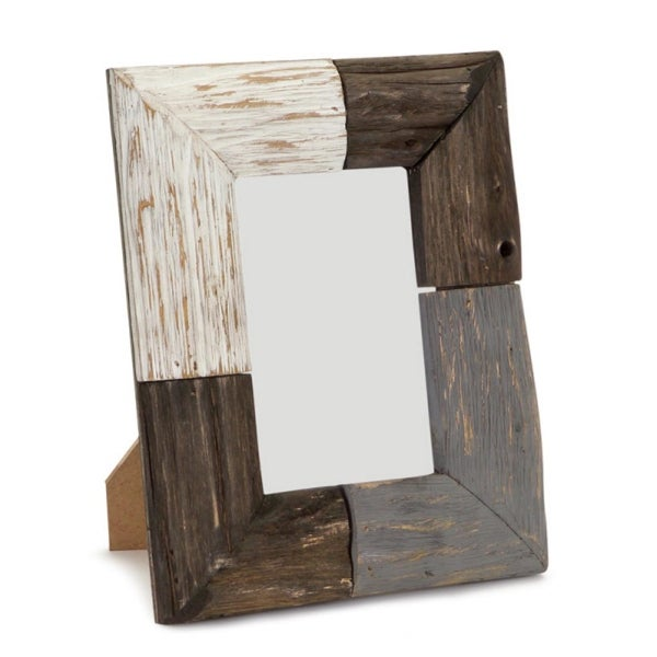 Pack Of 4 Brown Gray And White Rustic Natural Wood Picture Frames 9 H