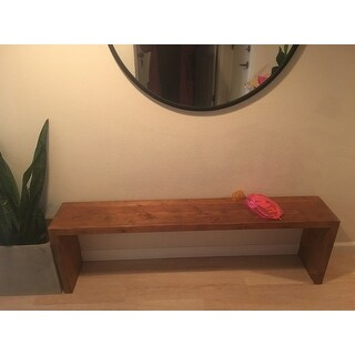 60-inch Weathered 'Reclaimed Look' Bench