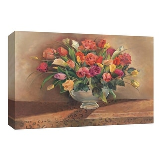 "PTM Images 9-153931  PTM Canvas Collection 8"" x 10"" - ""Spring Floral"" Giclee Flowers Art Print on Canvas"