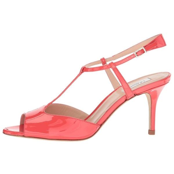 712220e527 L.K. Bennett Womens Quinn Peep Toe Casual Slingback Sandals - Geranium - 8.5