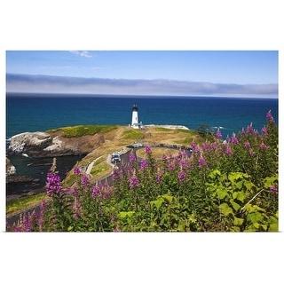 """Lighthouse by the sea, Oregon, USA"" Poster Print"