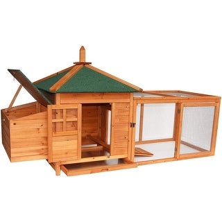 Lovupet Waterproof Wooden Chicken Coop Backyard Nest Box Pet Cage Hen Hutch Small Animal House 4350