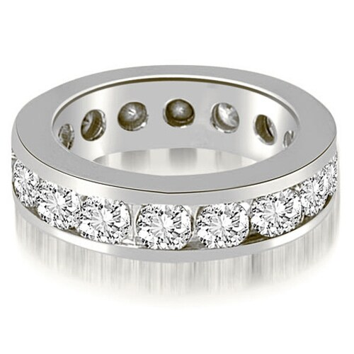 4.00 cttw. 14K White Gold Round Channel Eternity Ring